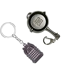 Bagpack Keychain and Pubg Pan Keychain