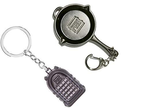 Bagpack Keychain and Pubg Pan Keychain