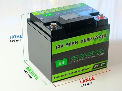 Lifepo4 12v 50ah Lithium Batterie Mit Bms Elektronik