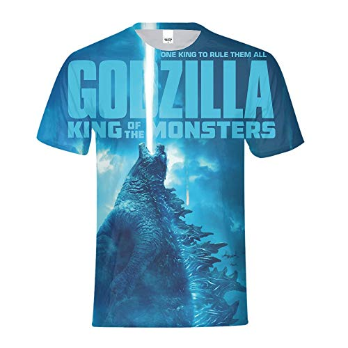 Godzilla T-shirt Tee - Godzilla: King of The Monsters T Shirt 2019 Cosplay for Men Boys Kid Size 7