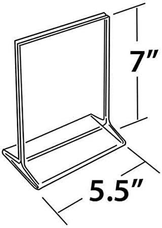 10-Pack Azar Displays 142709 5.5-Inch Width by 7-Inch Height Top-Load Acrylic Sign Holder