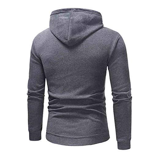 Hiver Gray Outwear 2019 Capuche Manches Dark Nouveau Mens Zahuihuim Molleton Sweatshirt Longues En Tops Pull À Décontracté 'automne UEqcgT6wf