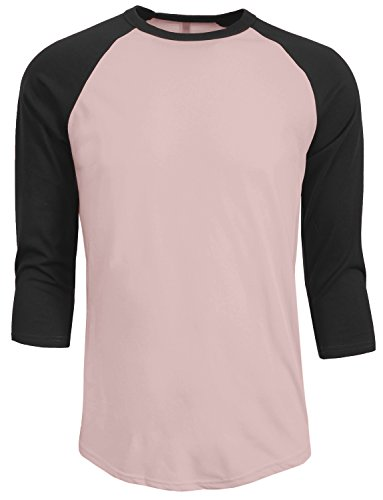 NE PEOPLE Mens 3/4 Sleeve Baseball Tshirt Raglan Jersey Shirt S-2XL