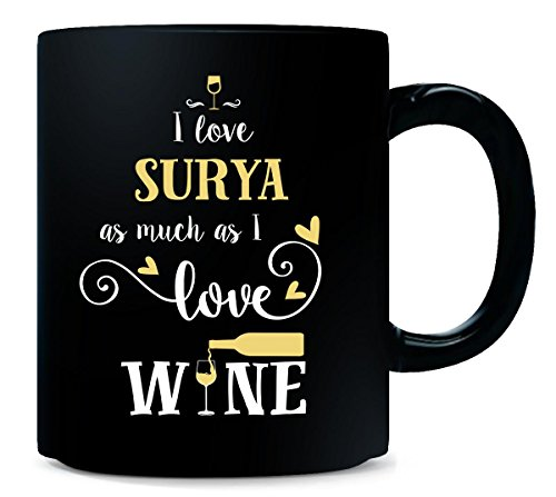 I Love Surya As Much As I Love Wine Gift For Her - Mug