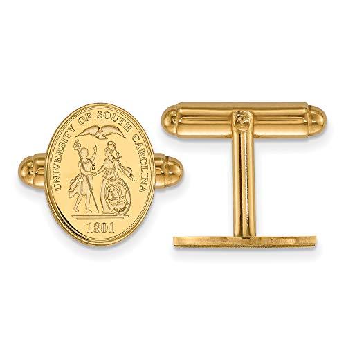 Kira Riley Gold Plated University of South Carolina Crest Cuff Link ()