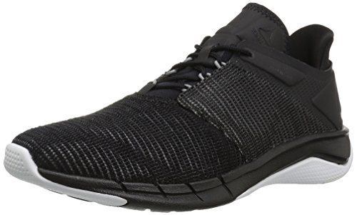 Reebok Women's Fast Flexweave Running Shoe, Black/Coal/Flint Grey/White, 7 M US (7 Grey Flint)