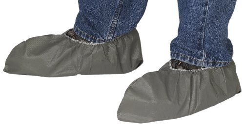 Lakeland MicroMax NS Microporous General Purpose Non Skid Shoe Cover with Elastic Ankles, Disposable, Large/X-Large, Gray (Case of 400)