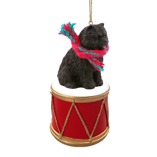 Little Drummer Chow Chow Black Christmas Ornament - Hand Painted - Delightful
