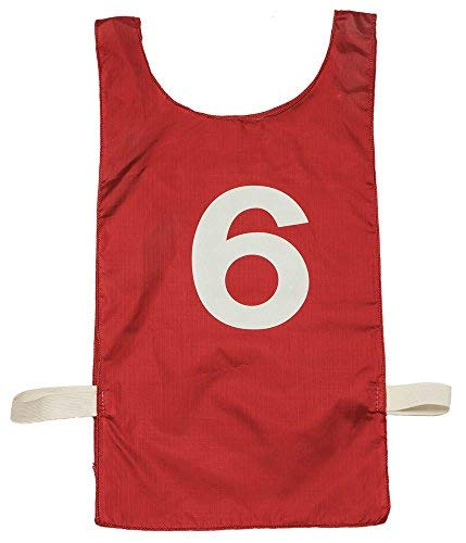 Champion Sports Heavyweight Numbered Pinnie in Red - Set of 12