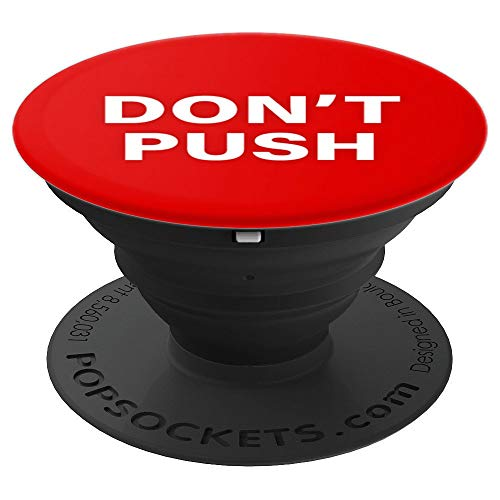 Don't Push Red Button - PopSockets Grip and Stand for Phones and Tablets