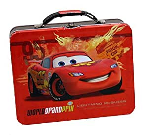 Cars 2 Lightning Mcqueen Embossed Metal Lunch Box Childrens Lunch Boxes Kitchen
