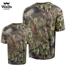 Walls Men's Short Sleeve Camo T-Shirt, Mossy Oak Breakup Country, Large