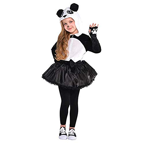 AMSCAN Panda Halloween Costume for Girls, Medium, with Included Accessories -