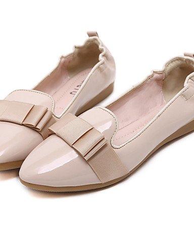 PDX/ Damenschuhe - Ballerinas - Kleid / Lässig - Kunstleder - Flacher Absatz - Komfort / Spitzschuh / Geschlossene Zehe -Schwarz / Rot / black-us6 / eu36 / uk4 / cn36