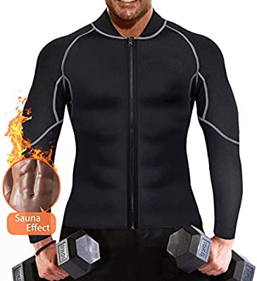 QUAFORT Full Body Shapewear Sauna Suit Neoprene Weight Loss Gym Shapers with Sleeve
