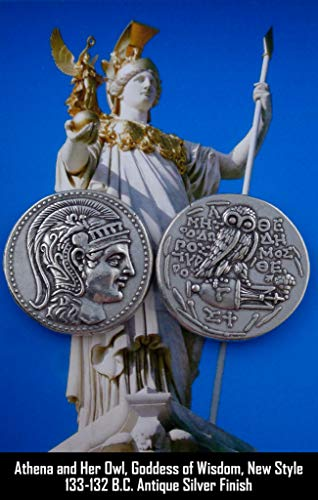 Athena and Owl Amphora Coin, Goddess of Wisdom, Mark of Athena, Greek Coins, Greek Mythology (83-S)