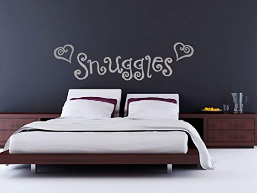 (Yetta Quiller Bedroom Wall Decal Snuggles Heart Wall Sticker Cuddles Romance Couple Boudoir Above Bed)