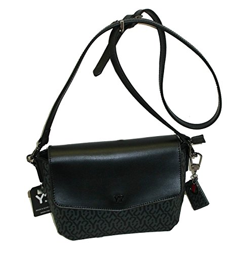 BORSA SHOULDER BAG CON TRACOLLINA LUNGA IN PELLE YNOT COLLECTION Y004 NERO