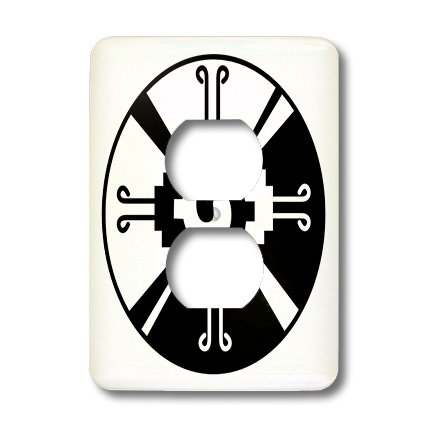 3dRose LLC lsp_101008_6 Hunab Ku Indian Mexican Symbol 2 Plug Outlet Cover by 3dRose