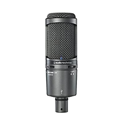 Audio-Technica AT2020USB PLUS Cardioid Condenser USB Microphone (Certified Refurbished) from Audio-Technica
