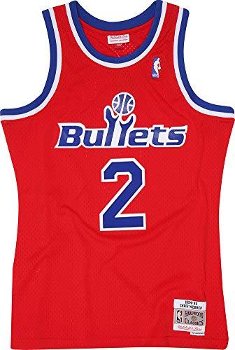 Mitchell & Ness Chris Webber 2 Washington Bullets Replica Swingman NBA Jersey HWC Basketball Trikot Red