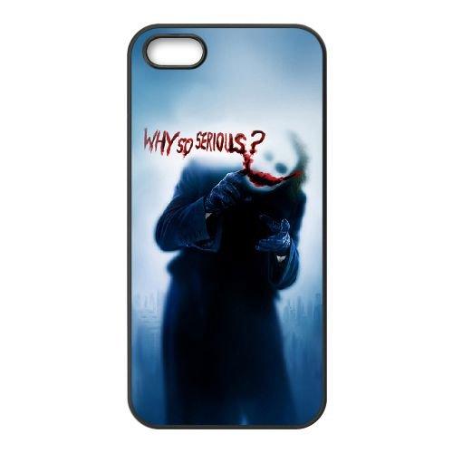 Joker 012 coque iPhone 5 5S cellulaire cas coque de téléphone cas téléphone cellulaire noir couvercle EOKXLLNCD24906