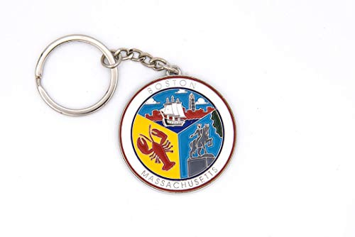 The Card Works Inc. Boston Collage Key Chain