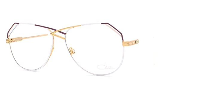 e1da919b40 Image Unavailable. Image not available for. Color  Cazal 229 342 White and  Purple Authentic Women Vintage Eyeglasses Frame