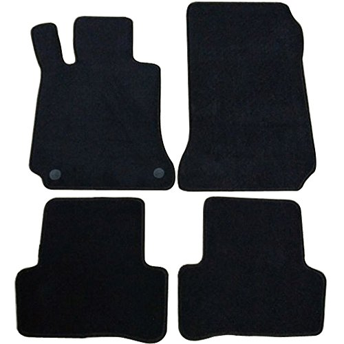 Floor Mats Fits 2008-2011 Benz W204 | C-Class 4Dr OEM Factory Fitment Car Floor Mats Front & Rear Nylon by IKON MOTORSPORTS | 2009 2010