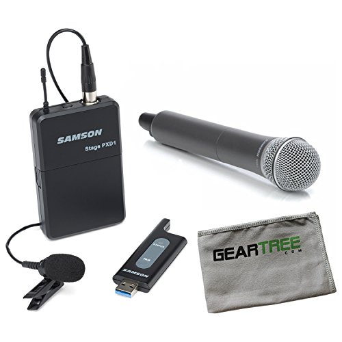 Samson Stage XPD1 Lav USB Digital Wireless System w/Geartree Cloth and Alternat