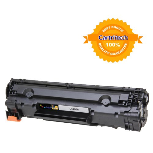 Cartritech compatible HP CE285A / Canon 125 Black Toner Cartridge for HP LaserJet PRO P1102 P1102W M1312 M1212nf MFP and Canon ImageClass LBP6000 / MF3010, Office Central