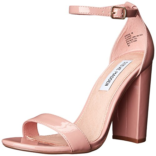 Steve Madden Women Carrson Dress Sandal Blush Patent