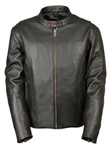 Milwaukee Men's Classic Vented Scooter Jacket with Side Zippers (Black, Large)