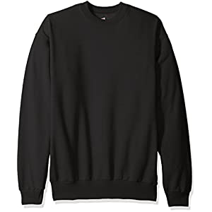 Hanes Men's EcoSmart Fleece Sweatshirt,Black,XL