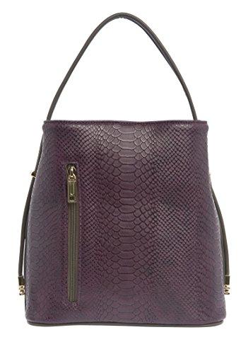 samoe-style-plum-snakeskin-texture-with-gray-trim-classic-convertible-handbag