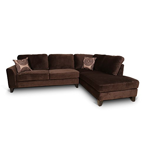 Malibu Sectional Sofa - Porter Designs U4606 Malibu Sectional, Brown