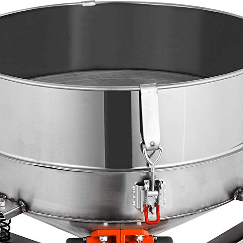 Happibuy Automatic Powder Sifter Shaker Machine 110V 300W Flour Sieve Machine Stainless Steel 2 Screens Industrial (Silver) by Happibuy (Image #7)