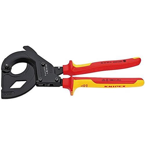 KNIPEX(クニペックス)9536-315A 絶縁ラチェットケーブルカッター SWA用 スポーツ レジャー DIY 工具 カッター top1-ds-1849417-ak [簡易パッケージ品] B06ZY4SXR4