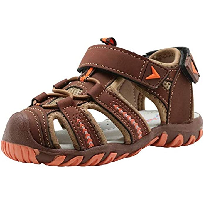 Apakowa Kids Girls Boys Soft Sole Closed Toe Sandals Summer Shoes with Arch Support (Toddler/Little Kid)