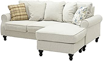 Loading Images.  sc 1 st  Amazon.co.uk & Wellgarden Fabric Corner Sofa Couch L Shaped 3 Seater Sofa Settee ...