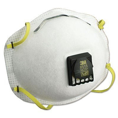 3M 8515 N95 Particulate Welding Respirator, with Cool Flow Exhalation Valve, 10 boxes of 10 per box, 100 Count