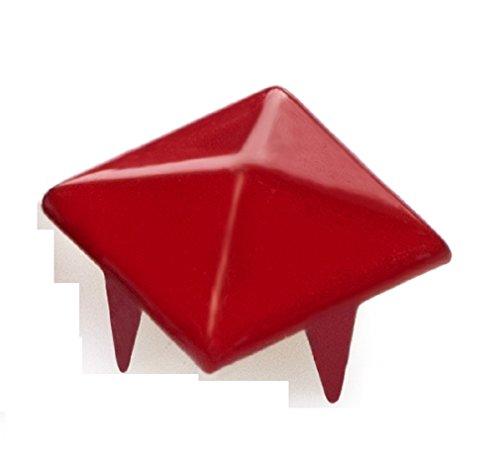 cucire tm colla Bullet per scarpe assortiti Spike Tacos Acrilico borse te colori stick da 4sold Red vestiti Cono e 100pcs perline fai XvqdxwPP