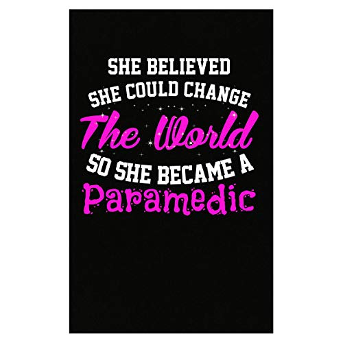 Green Cow Land She Believed She Could Change The World Paramedic - Poster