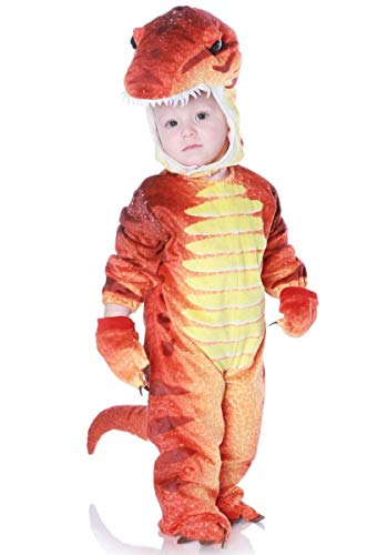 Underwraps Costumes Baby's T-Rex Costume Jumpsuit, Rust, X-Large (4-6 Yrs)