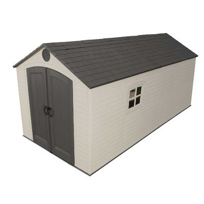 Lifetime 60075 Plastic Storage Shed Size: 8' x 15'