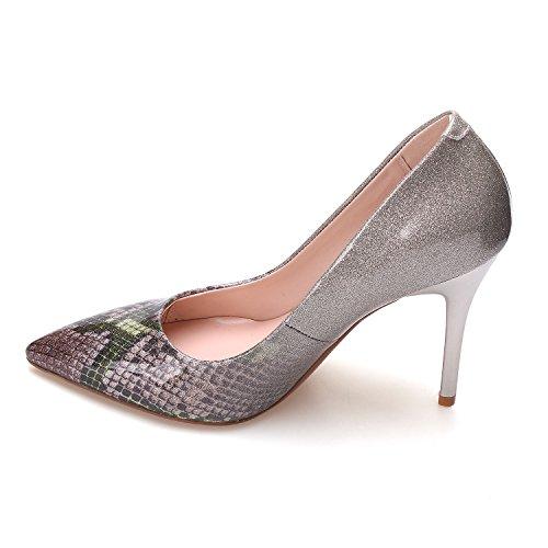 Woman Heels High gold Wedding Shoes Women Python ZAPROMA Pumps Shoes wZHOqq