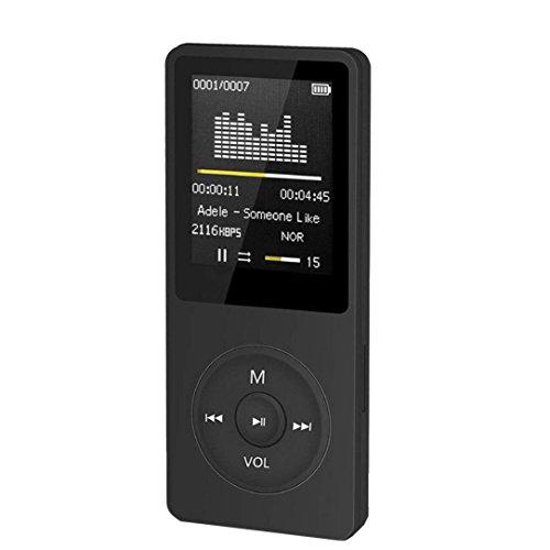 (SUEKQ 2018 Newest Fashion Portable MP3/MP4 Player 1.8 Inch LCD Screen FM Radio Video Games Movie (Black))