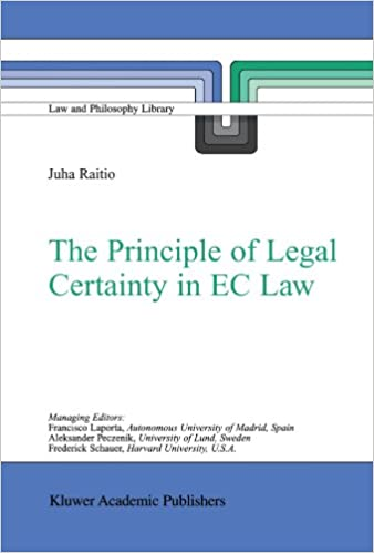 The Principle of Legal Certainty in EC Law (Law and