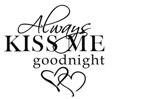 (MAFENT(TM) Always Kiss Me Goodnight Peel and Stick Wall Decal for Home Decor)