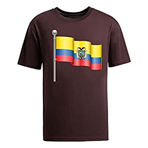 Custom Mens Cotton Short Sleeve Round Neck T-shirt, Printed with World Cup Images brown
